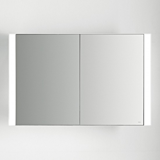 FALPER QUATTRO.ZERO ALLUMINUM MIRROR CABINET WITH FRONT LIGHT