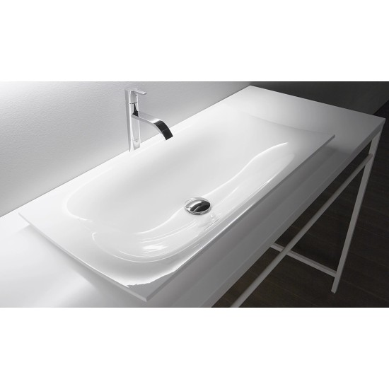 FOGLIO81 Antonio Lupi Rectangular Encased Ceramilux Sink