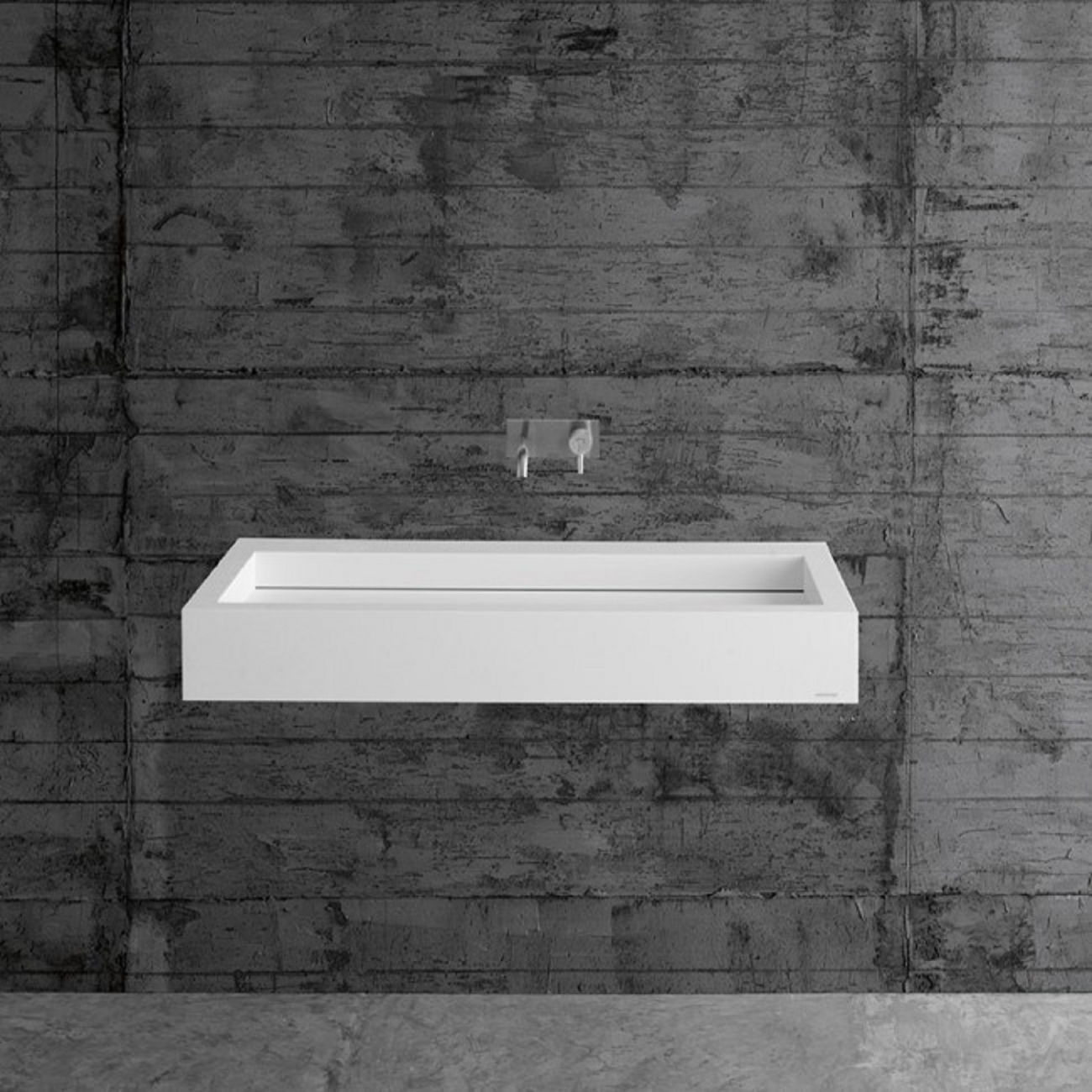 SLOT22 ANTONIO LUPI RECTANGULAR CORIAN WASHBASIN