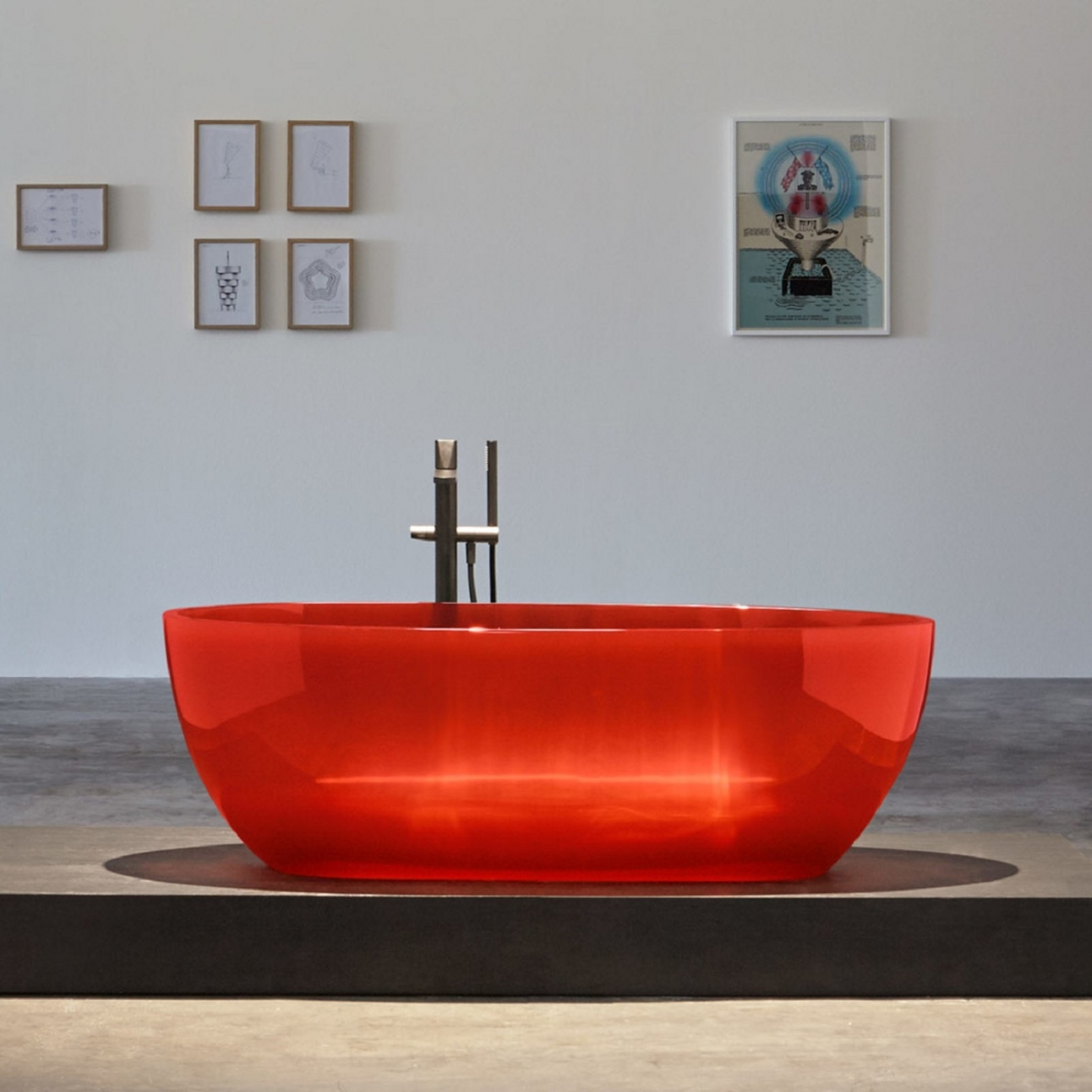 ANTONIO LUPI REFLEX CRISTALMOOD BATHTUB