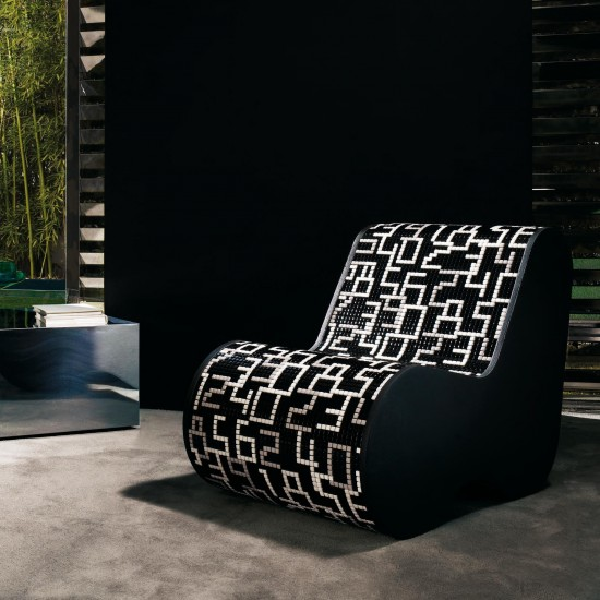 BISAZZA HOME SINGLE SOFT MOSAIC DATA BLACK