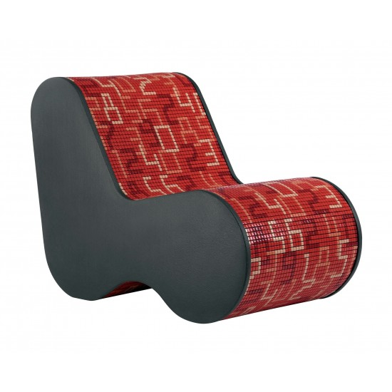 BISAZZA HOME SINGLE SOFT MOSAIC DATA RED