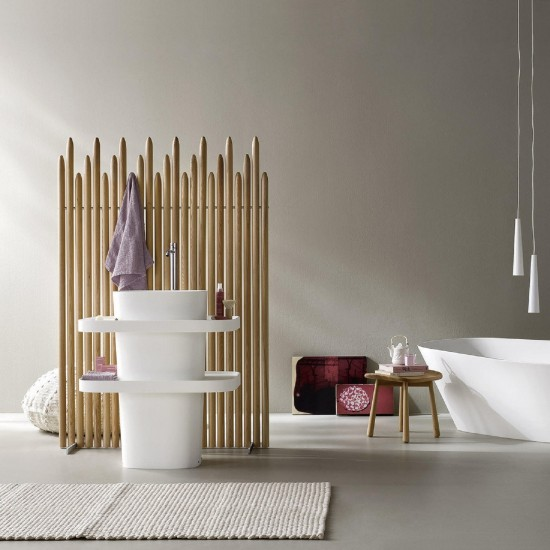 REXA DESIGN FONTE FREESTANDING TOTEM WASHBASIN