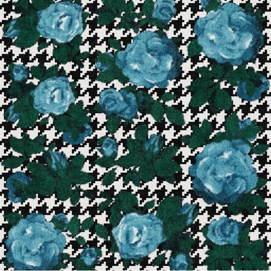 LONDONART FABRIC ROSES WALLPAPER