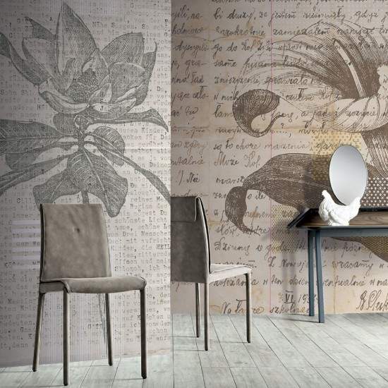 LONDONART WORDS AND FLOWERS WALLPAPER