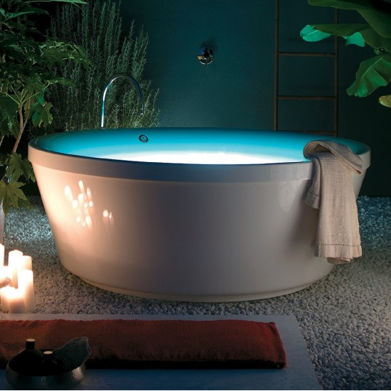 ZUCCHETTI KOS GEO 180 FREESTANDING BATHTUB