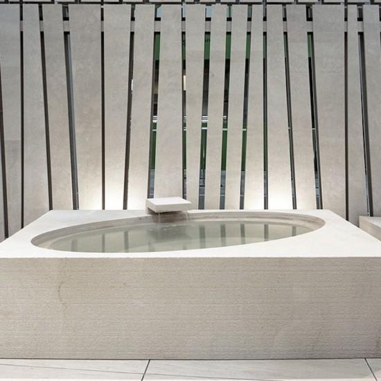 PIBAMARMI STONE LIKES WATER WABI BATHTUB