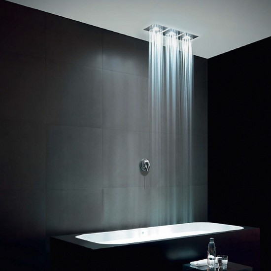 ZUCCHETTI SQUARE WALL-MOUNTED SHOWER HEAD