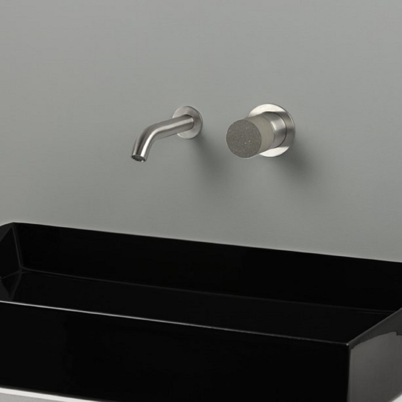 Miscelatore A Muro Per Lavabo ritmonio diametro35 inox concrete miscelatore lavabo a parete - tattahome