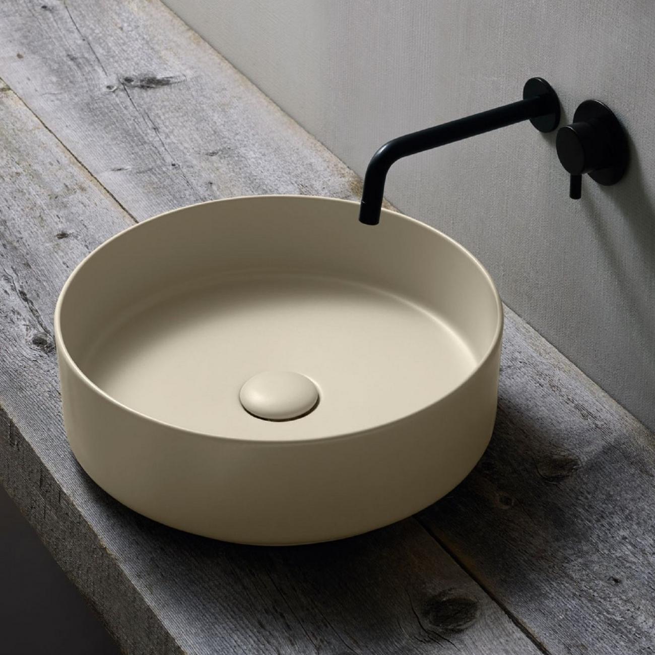 Ceramica Cielo Lavabo Shui.Cielo Shui Comfort Lavabo Appoggio Tondo Tattahome