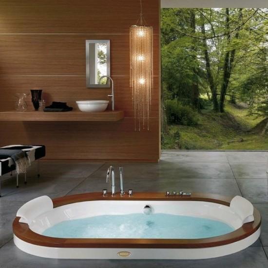 JACUZZI OPALIA WOOD AND STONE WHIRLPOOL BATH