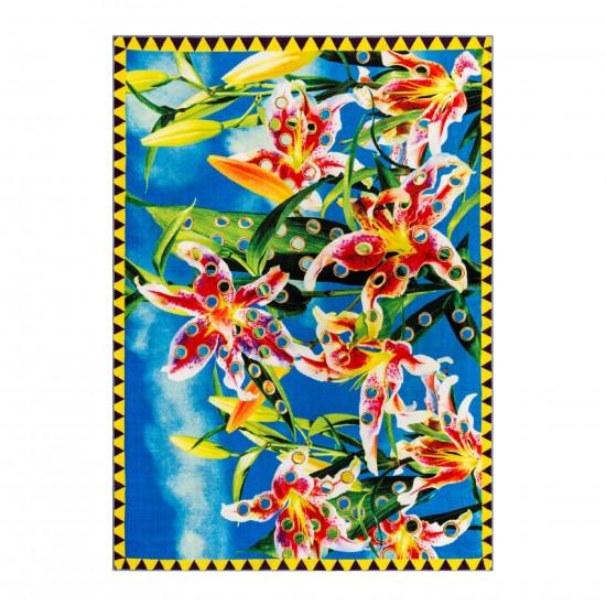 SELETTI TOILETPAPER FLOWERS WITH HOLES TAPPETO RETTANGOLARE