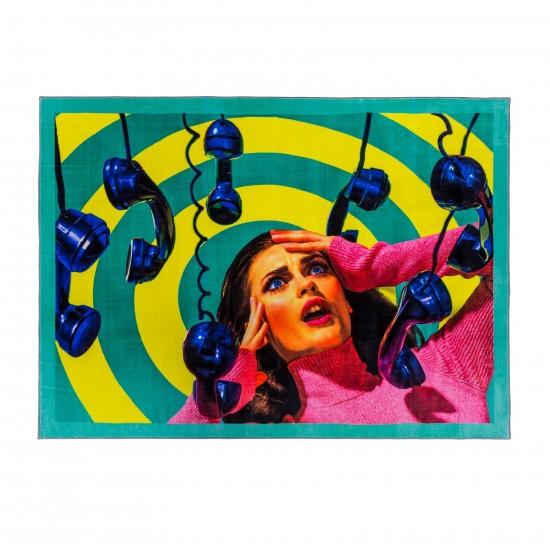SELETTI TOILETPAPER PHONE TAPPETO RETTANGOLARE