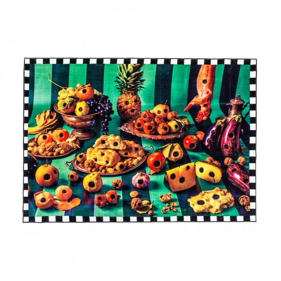 SELETTI TOILETPAPER FOOD WITH HOLES RECTANGULAR RUG