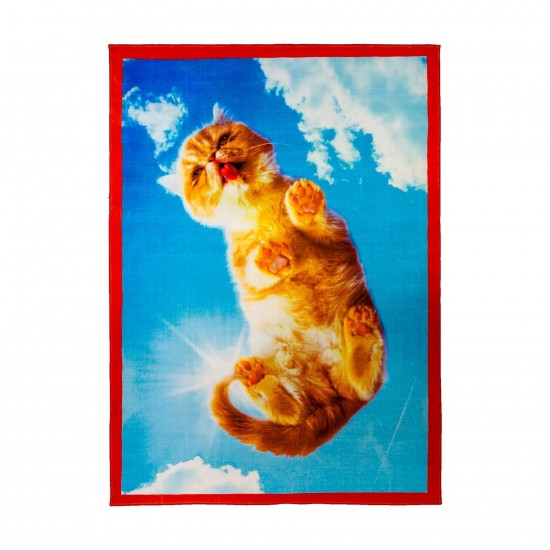 SELETTI TOILETPAPER CAT RECTANGULAR RUG
