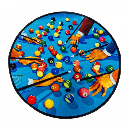 SELETTI TOILETPAPER SNOOKER CIRCLE RUG