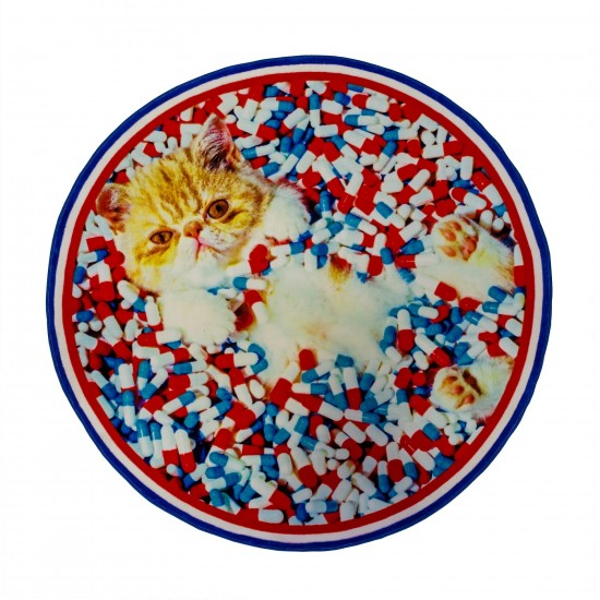 SELETTI TOILETPAPER CAT CIRCLE RUG