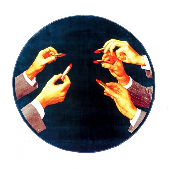 SELETTI TOILETPAPER LIPSTICKS CIRCLE RUG