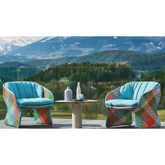 VARASCHIN MAAT LOUNGE ARMCHAIR WITH CUSHION