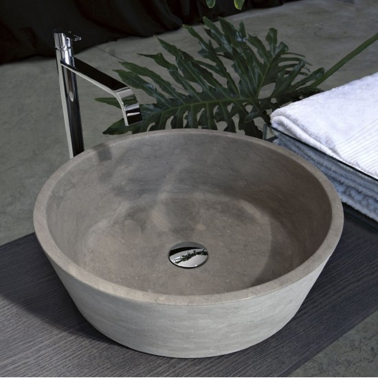 ANTONIO LUPI PILA11 ROUND TOP MOUNT STONE SINK