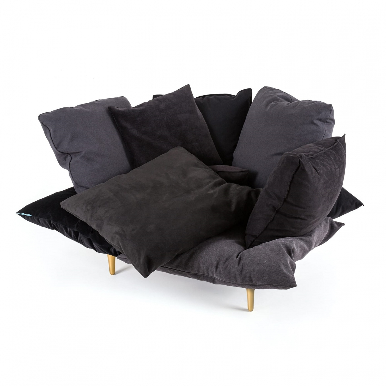 Surprising Seletti Comfy Charcoal Grey Armchair Tattahome Dailytribune Chair Design For Home Dailytribuneorg