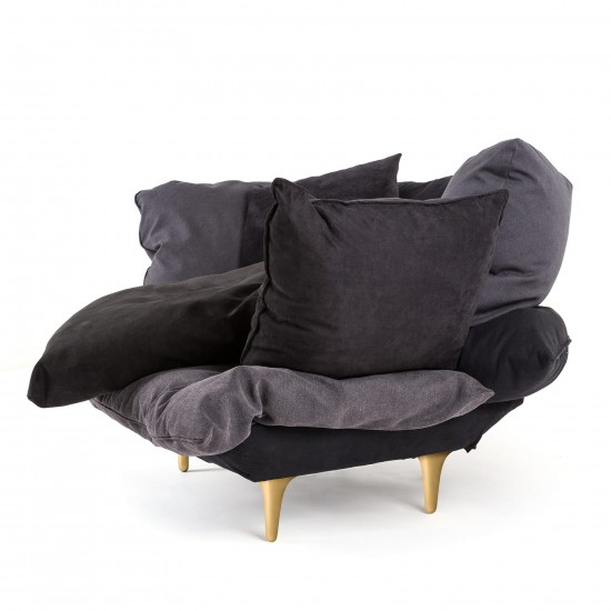 SELETTI COMFY CHARCOAL GREY ARMCHAIR
