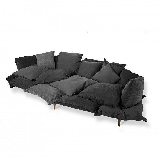 SELETTI COMFY CHARCOAL GREY SOFA