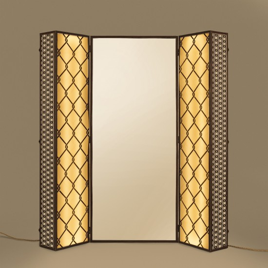 SELETTI LIGHTING TRUNK MIRROR WITH LIGHT