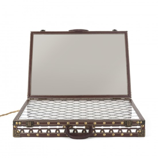SELETTI LIGHTING SUITCASE MIRROR WITH LIGHT