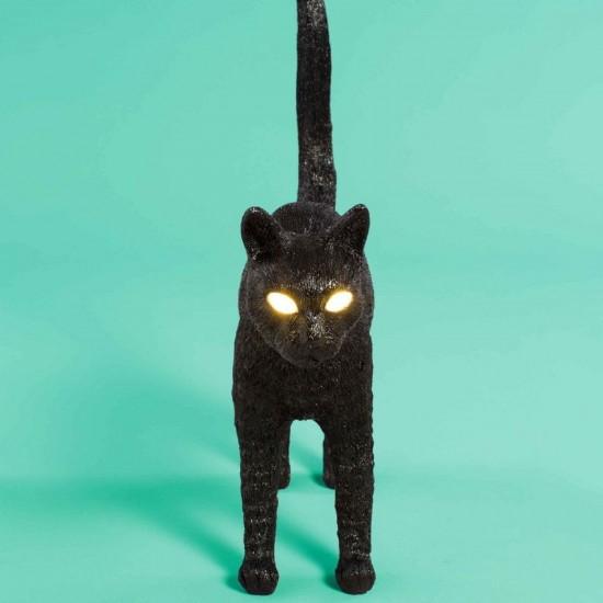 SELETTI JOBBY THE CAT BLACK LAMP