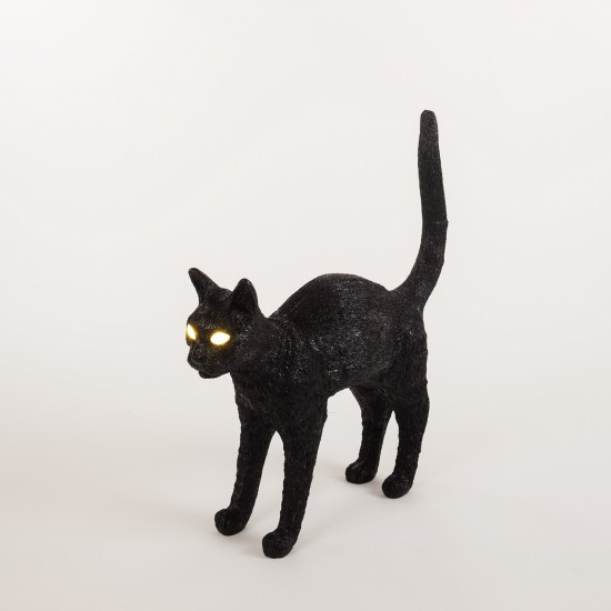 SELETTI JOBBY THE CAT BLACK LAMPADA