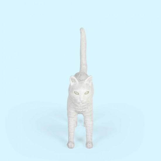SELETTI JOBBY THE CAT WHITE LAMP