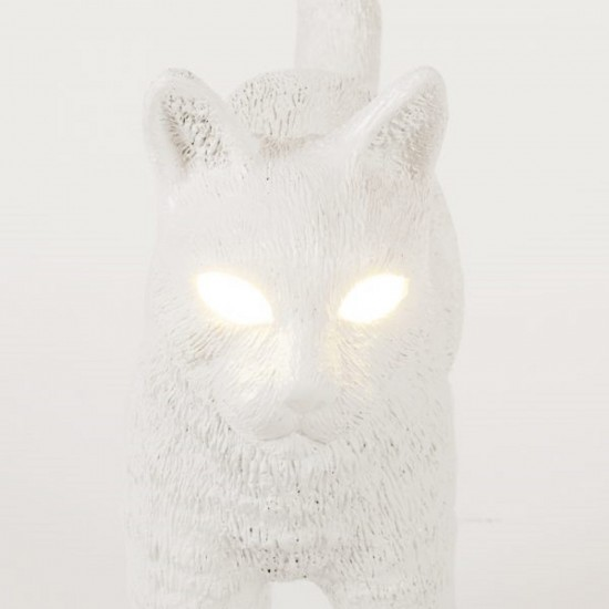 SELETTI JOBBY THE CAT WHITE LAMPADA