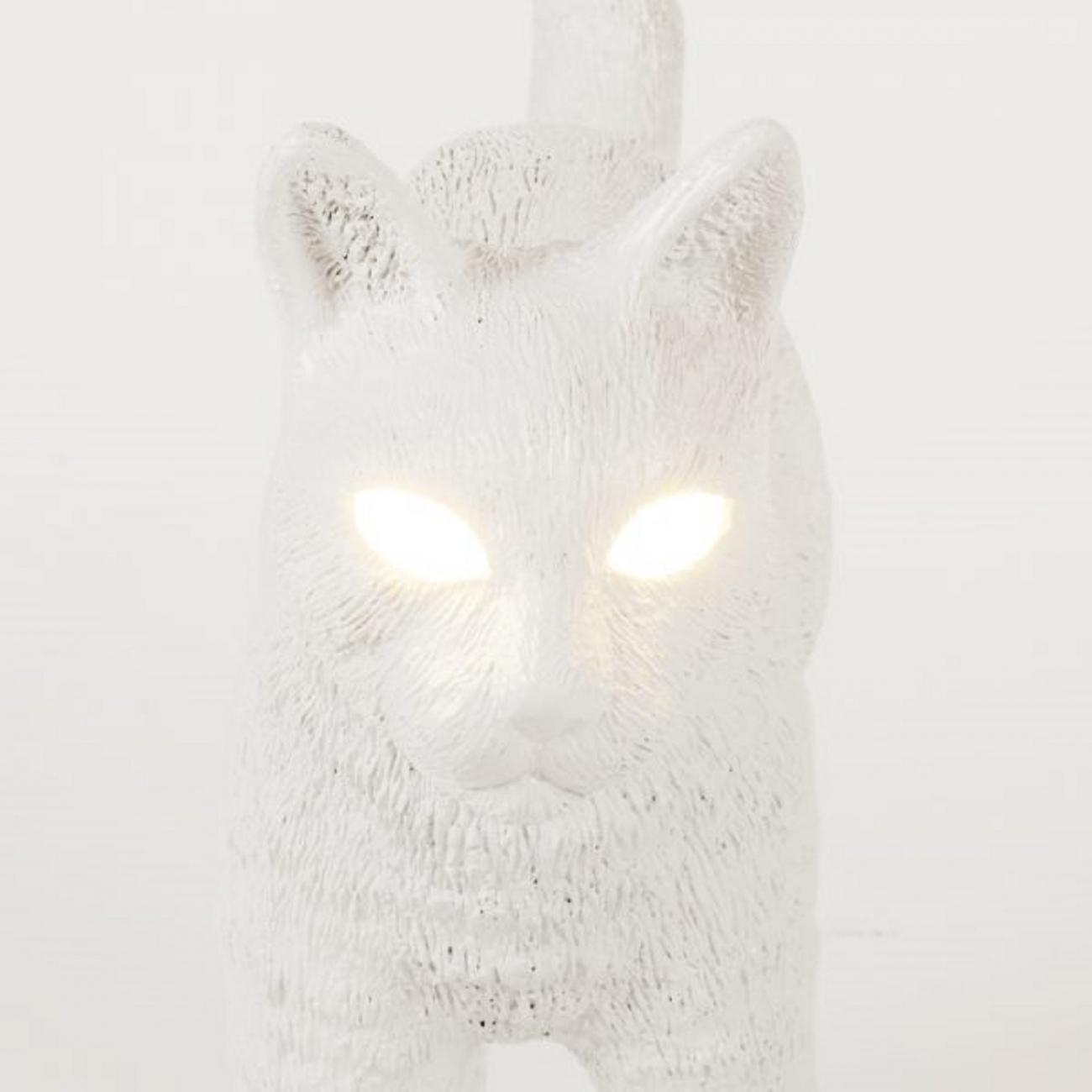 SELETTI JOBBY THE CAT WHITE LAMPADA
