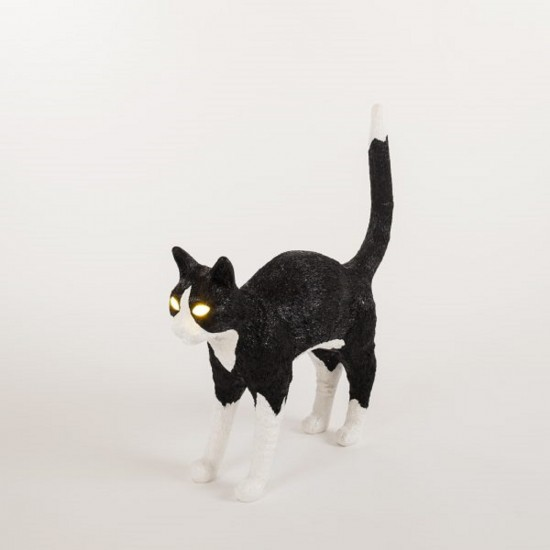 SELETTI JOBBY THE CAT BLACK&WHITE LAMPADA