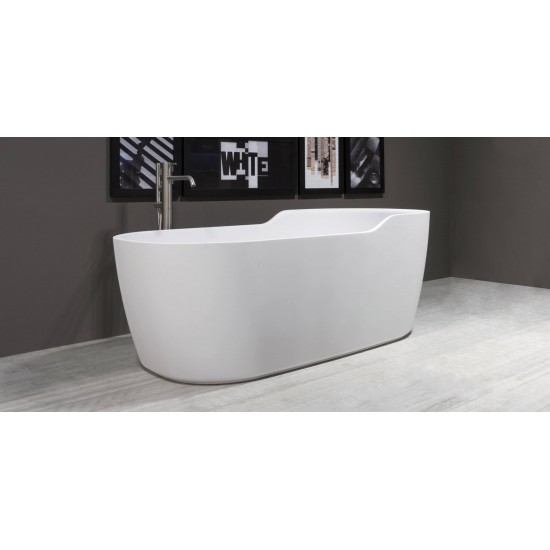 FUNNY WEST ANTONIO LUPI OVAL CRISTALPLANT BATHTUB 151x80