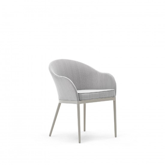 VARASCHIN SAIA PADDED BACK DINING ARMCHAIR