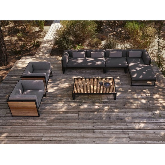GANDIA BLASCO DNA TEAK SECTIONAL SOFA 2