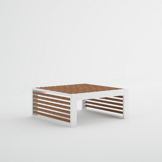 GANDIA BLASCO DNA TEAK CHAISELONGUE TABLE