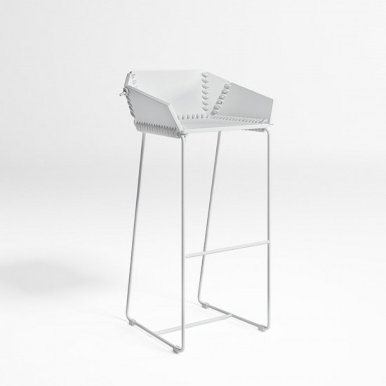 GANDIA BLASCO TEXTILE STOOL WITH BACKREST