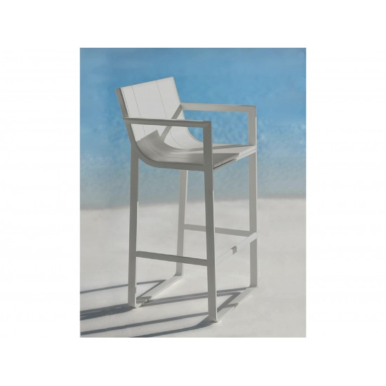 GANDIA BLASCO FLAT STOOL WITH HIGH BACKREST AND ARMS