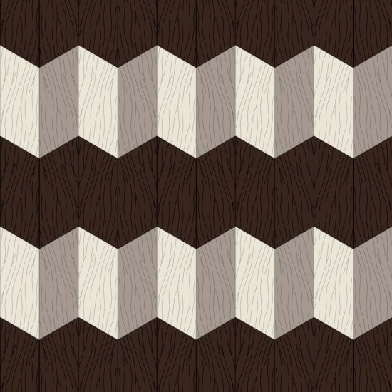 BISAZZA WOOD ZIGZAG STUDIO JOB