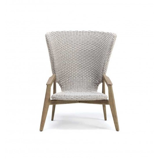 ETHIMO KNIT HIGH BACK LOUNGE ARMCHAIR