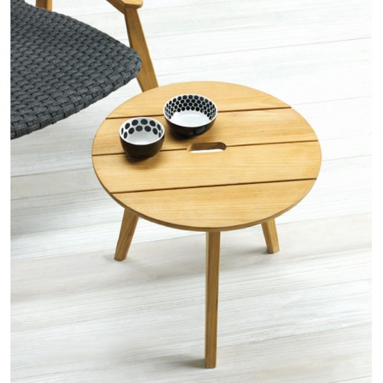 ETHIMO KNIT ROUND COFFEE TABLE