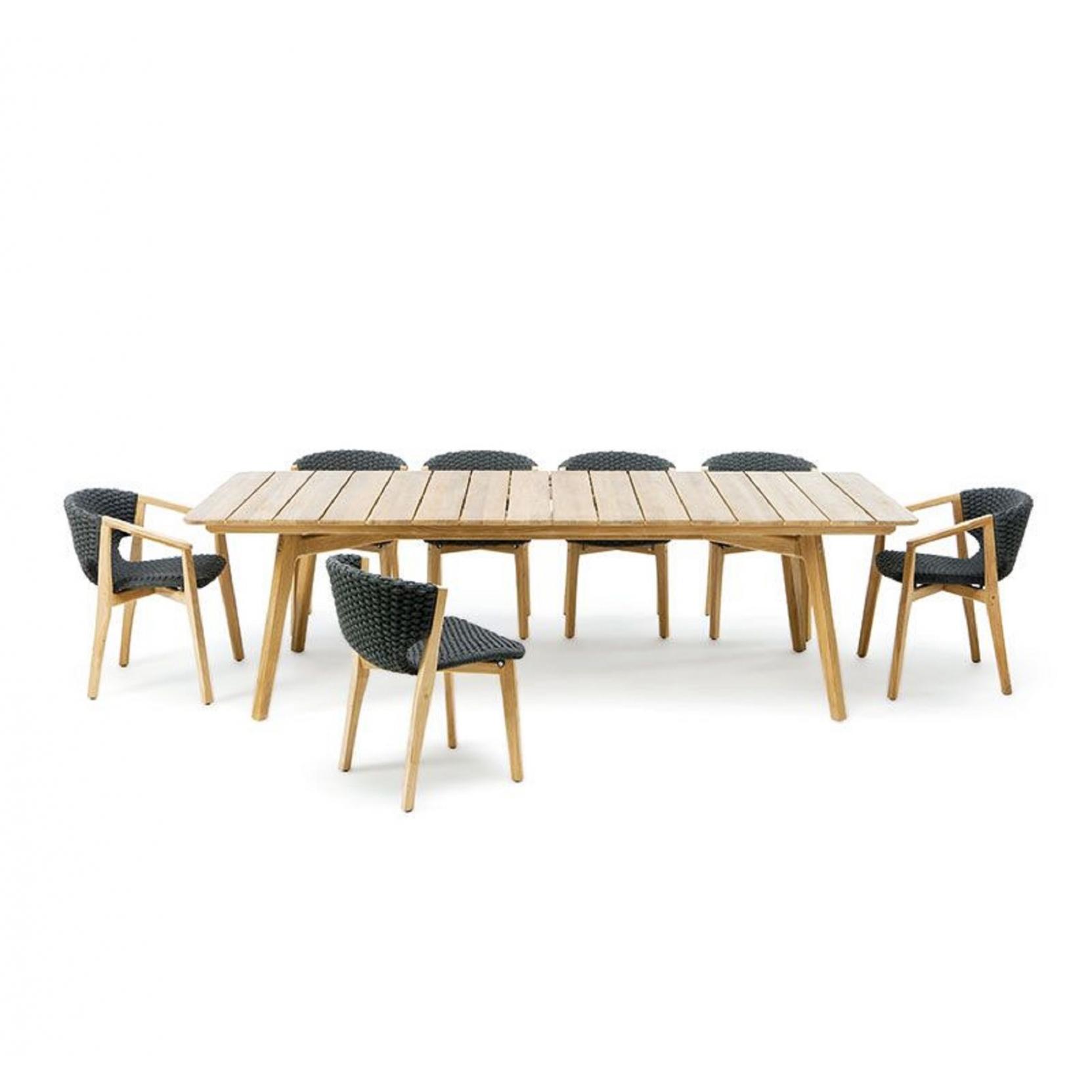 ethimo knit xl rectangular table  tattahome
