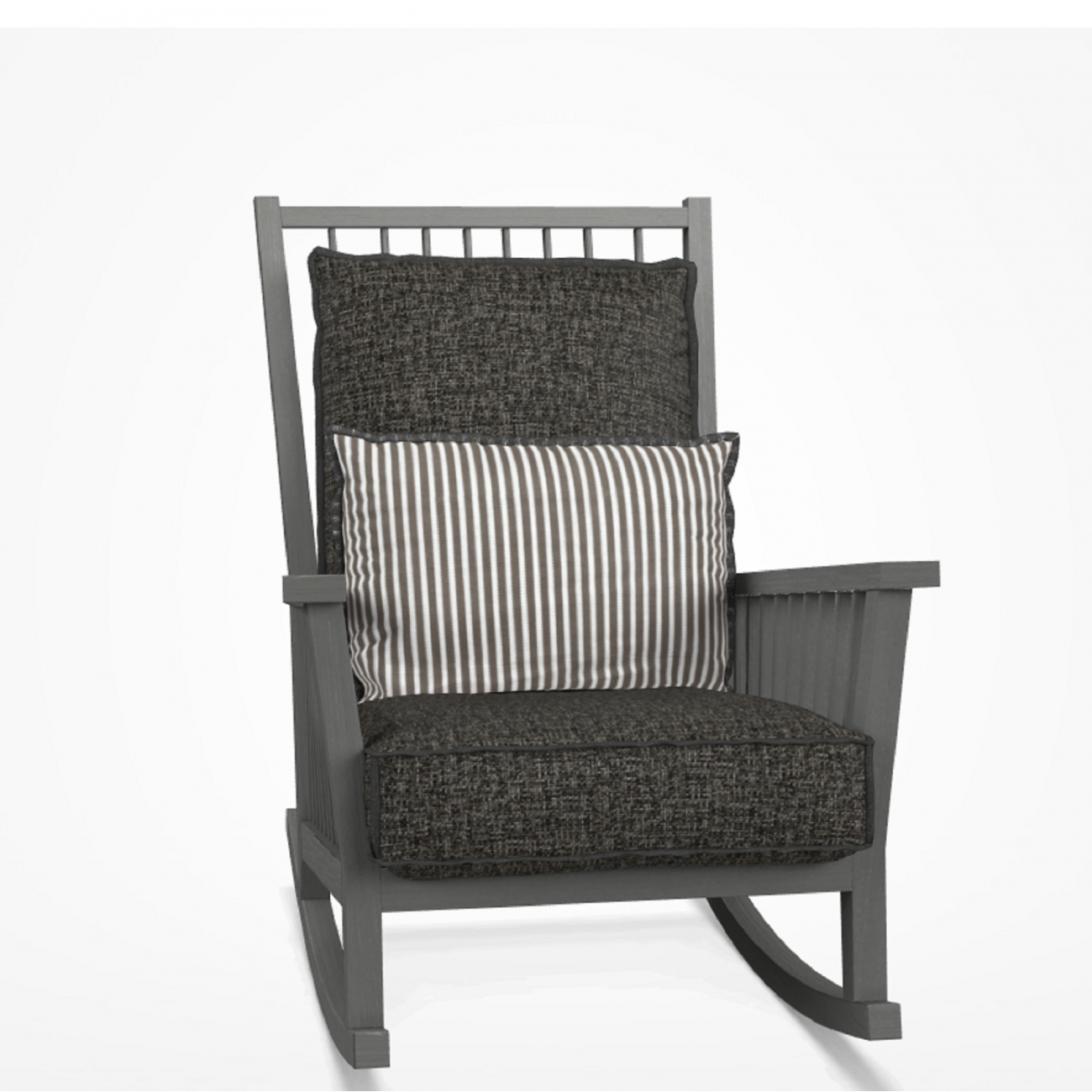 Gervasoni Gray Rocking Chair Tattahome