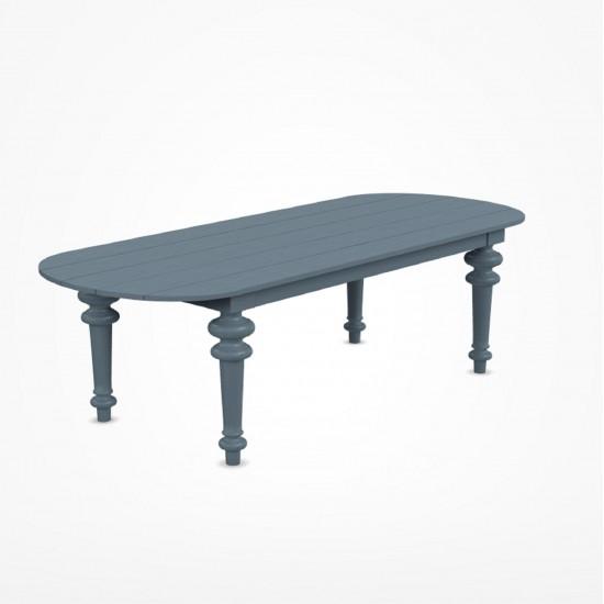 GERVASONI GRAY OVAL TABLE