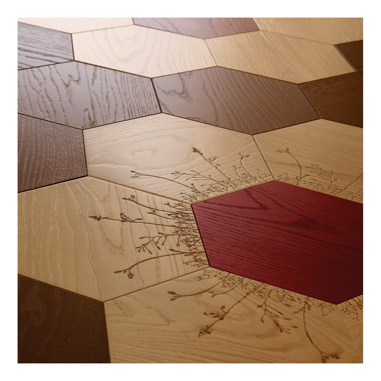 BISAZZA WOOD FLORAL GRAPHIC