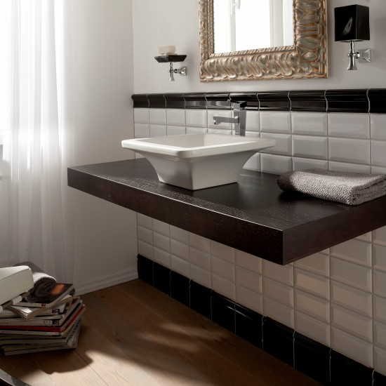 BUTTERFLY SCARABEO  Lay-on washbasin 40X40
