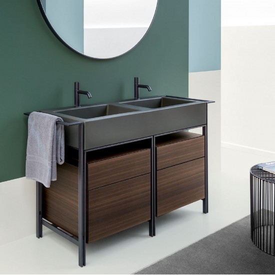CIELO NARCISO DOUBLE WASHBASIN CABINET